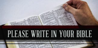 Write in Your Bible