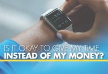 Is It Okay to Give My Time Instead of My Money?