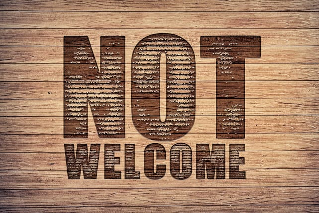 7 Easy Ways to Put a Not Welcome Sign on Your Church