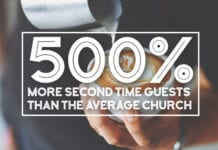 500% More Second Time Guests Than The Average Church