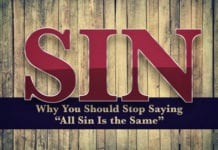 """3 Reasons Why You Should Stop Saying """"All Sin Is the Same"""""""