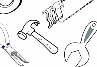 tools coloring sheet my page twisty noodle print construction