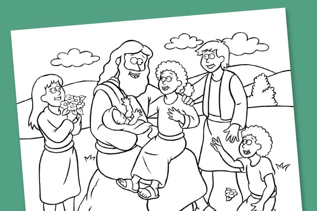 Free Bible Coloring Book With 12 Creative Pages