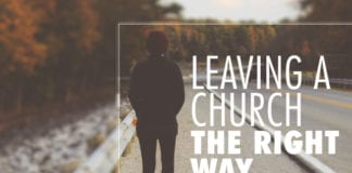 leaving a church