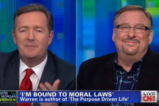 Rick Warren Debates Piers Morgan on Gay Marriage