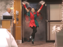 Christmas flash mobs