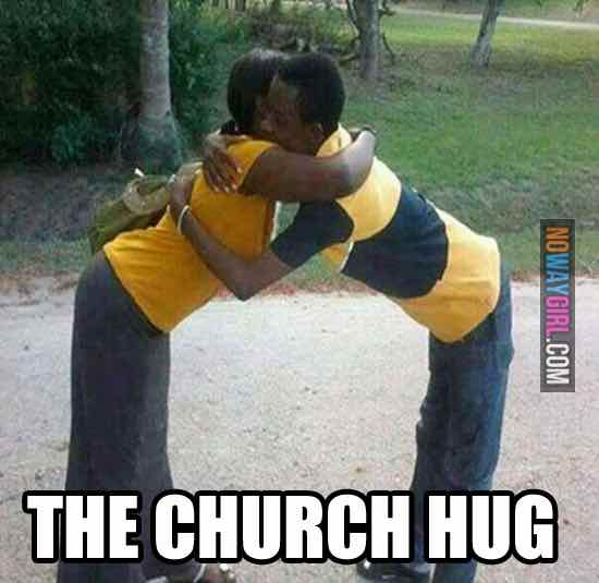 christian memes - the church hug