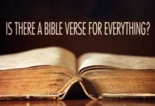 Are there Bible verses for every situation?