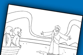photo relating to Free Printable Jesus Coloring Pages identified as Absolutely free Printable: Jesus Walks upon H2o Coloring Site