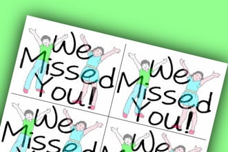 photograph regarding Free Printable Miss You Cards named No cost Printable Deal: \