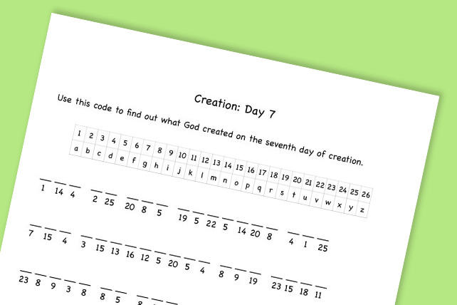 This free printable will help your students remember what God created on each day of creation. #Creation #Genesis1 #inthebeginning #Sundayschool #kidmin #childrensministry #childrenschurch #Biblelesson #Sundayschoolesson #AdamandEve
