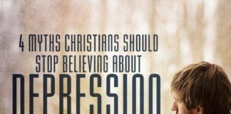 It breaks my heart to hear the myths and lies that Christians should stop believing about depression--and the shame that can be felt surrounding this topic.