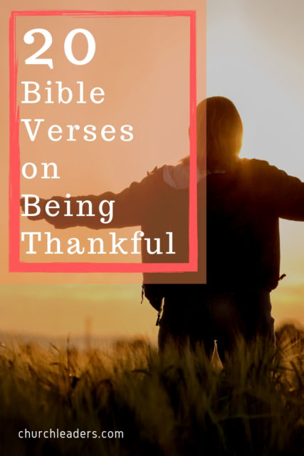 Bible verses on being thankful