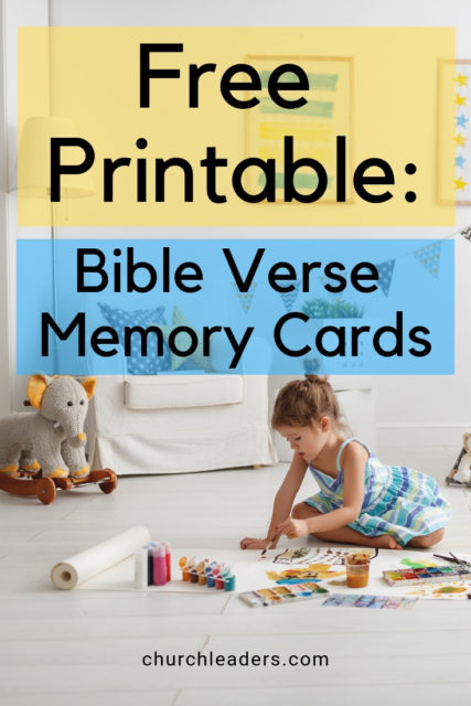 child using Bible verse memory cards