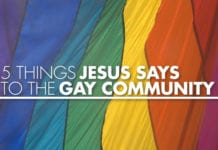 5 Things Jesus Says to the Gay Community