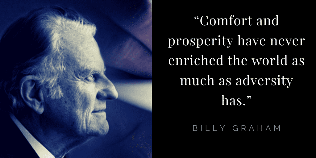 Billy Graham quotes about hope: adversity