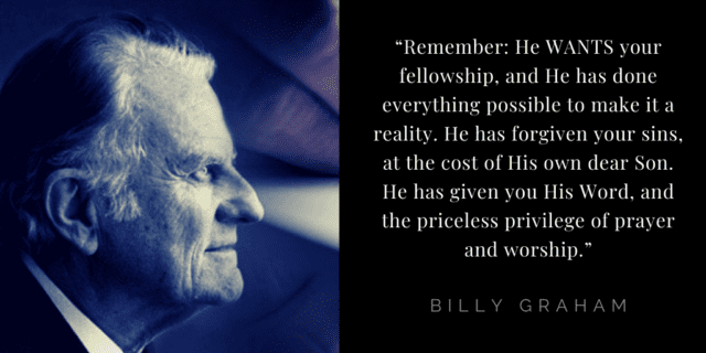 Billy Graham quotes about hope: Christ died for me