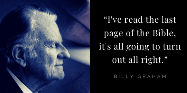 Billy Graham quotes about hope: faith