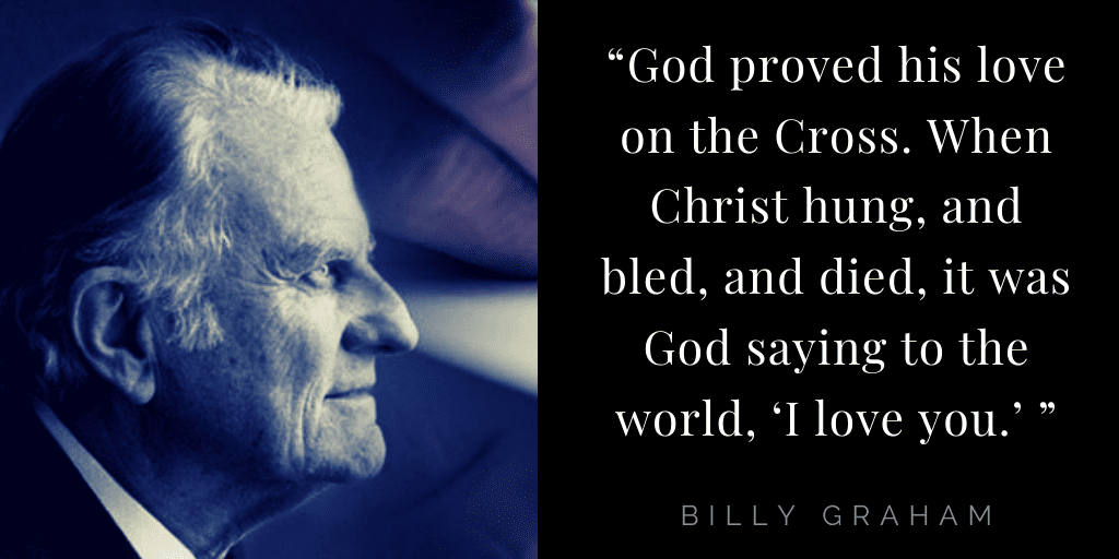Billy Graham quotes about hope: God's love
