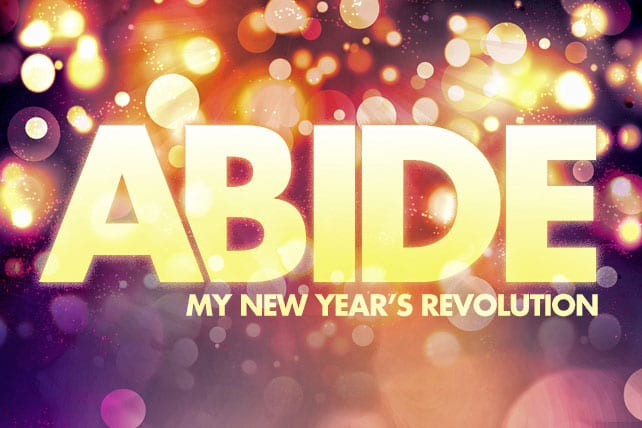 """My New Year's Revolution: """"To Abide"""""""