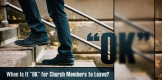 Church Members leaving