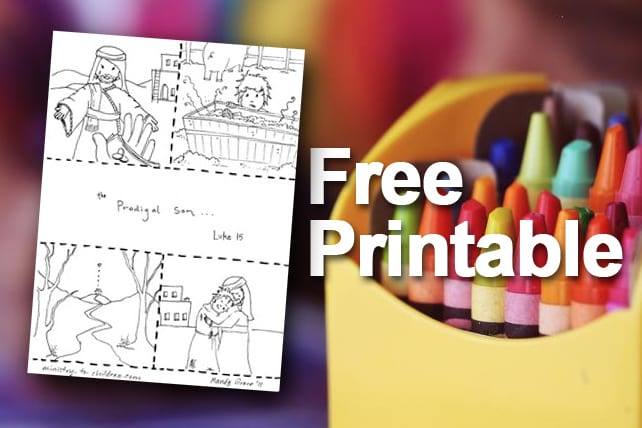 Free Printable: Prodigal Son Coloring Page