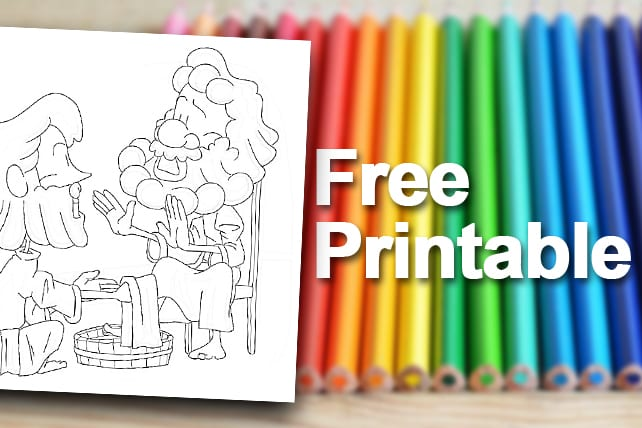Free Printable Jesus Washes The Disciples Feet