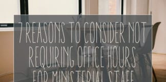 Consider Not Having Office Hours For Ministerial Staff