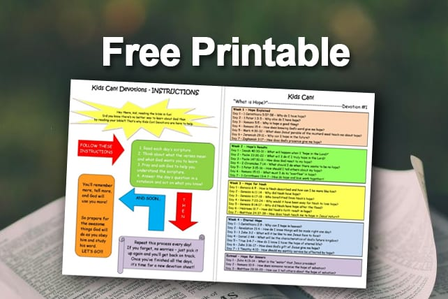 photograph relating to Printable Devotions called Totally free Printable: \