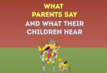 What parents say and what their children hear