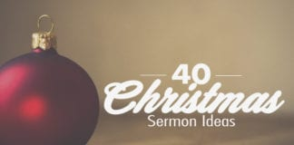 It's Christmas time again. And every year pastors have the task to create yet another great Christmas sermon. But after many years of preaching the same message, you can get repetitive.
