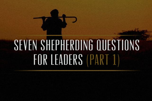 Seven Shepherding Questions for Leaders (Part 1)