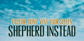 Pastor, Don't Vent Your Spleen—Shepherd Instead