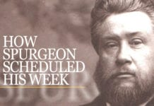 How Spurgeon Scheduled His Week