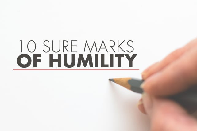 10 Sure Marks of Humility