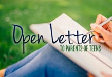 Open Letter to Parents of Teens