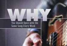 Why You Should Open with the Same Song Every Week