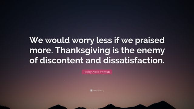 thanksgiving quotes worry less