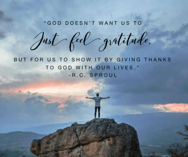 Thanksgiving Quotes R.C. Sproul