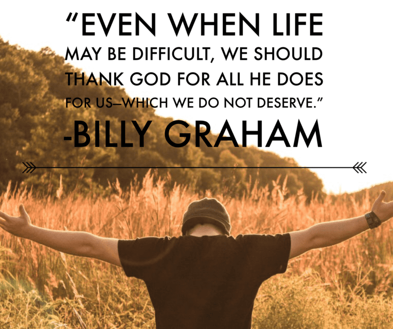 Thanksgiving Quote Billy Graham