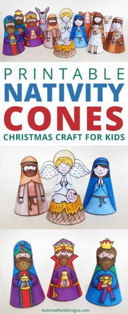 printable cone nativity craft