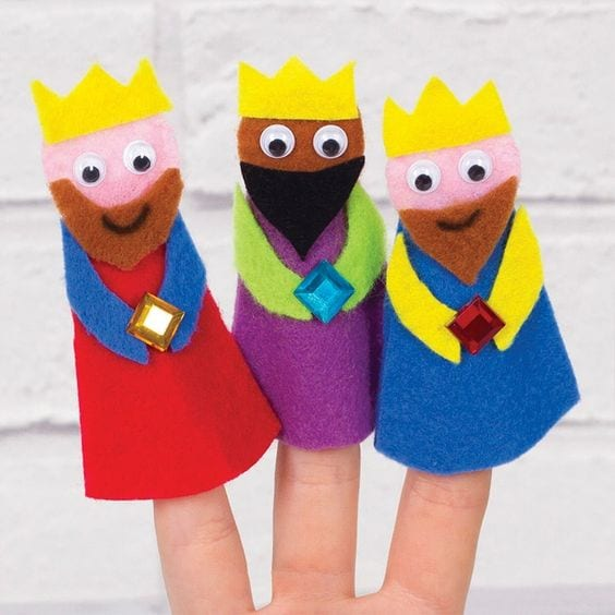 wise men nativity finger puppets