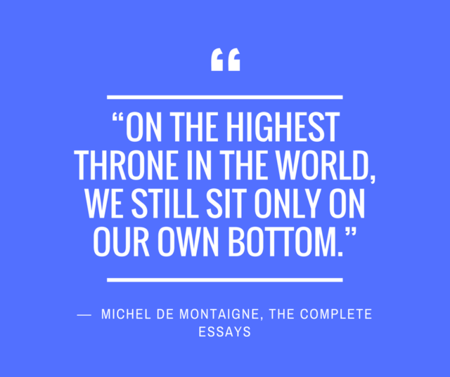 humility quotes montaigne