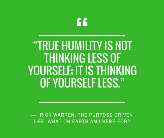 humility quotes rick warren