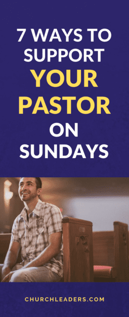 support your pastor
