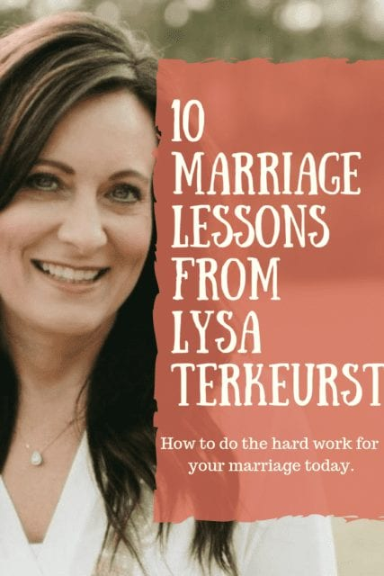 marriage lessons from Lysa Terkeurst