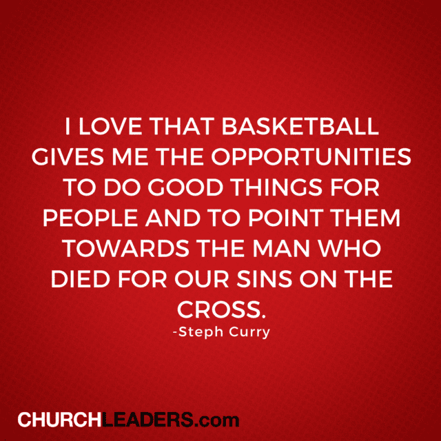 Steph Curry on Jesus