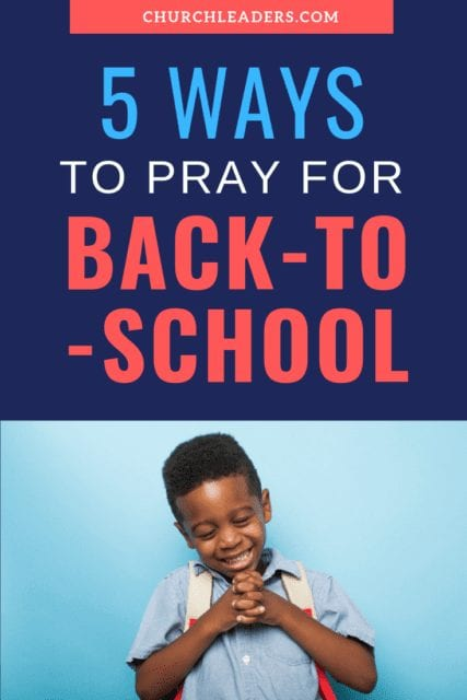 pray for back-to-school