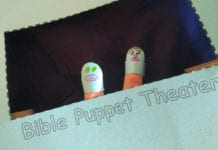 DIY Finger Puppet Bible Theater for Kids