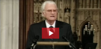 While prayer services swept the nation after 9/11 in 2001, God used Billy Graham's 9/11 message at the prayer service called by President George Bush in the Washington National Cathedral.
